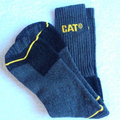 Uomo Qualità gatto nero grigio punta in acciaio PAC industria lavoro Boot SOCKS 12 PLUS XL