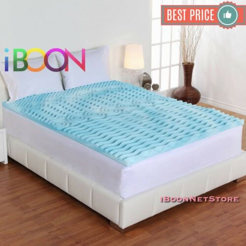3 INCH Orthopedic Foam Mattress Topper King Size Gel Pad Cover Hypoallergenic