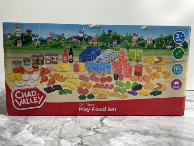 Chad Valley 120 Piece Play Food Set Children's Pretend Picnics Kitchen Grocery