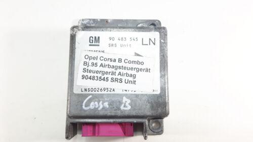 Opel Corsa B Airbag taxe périphérique Dispositif de commande airbag 90483545 LN SRS Unit