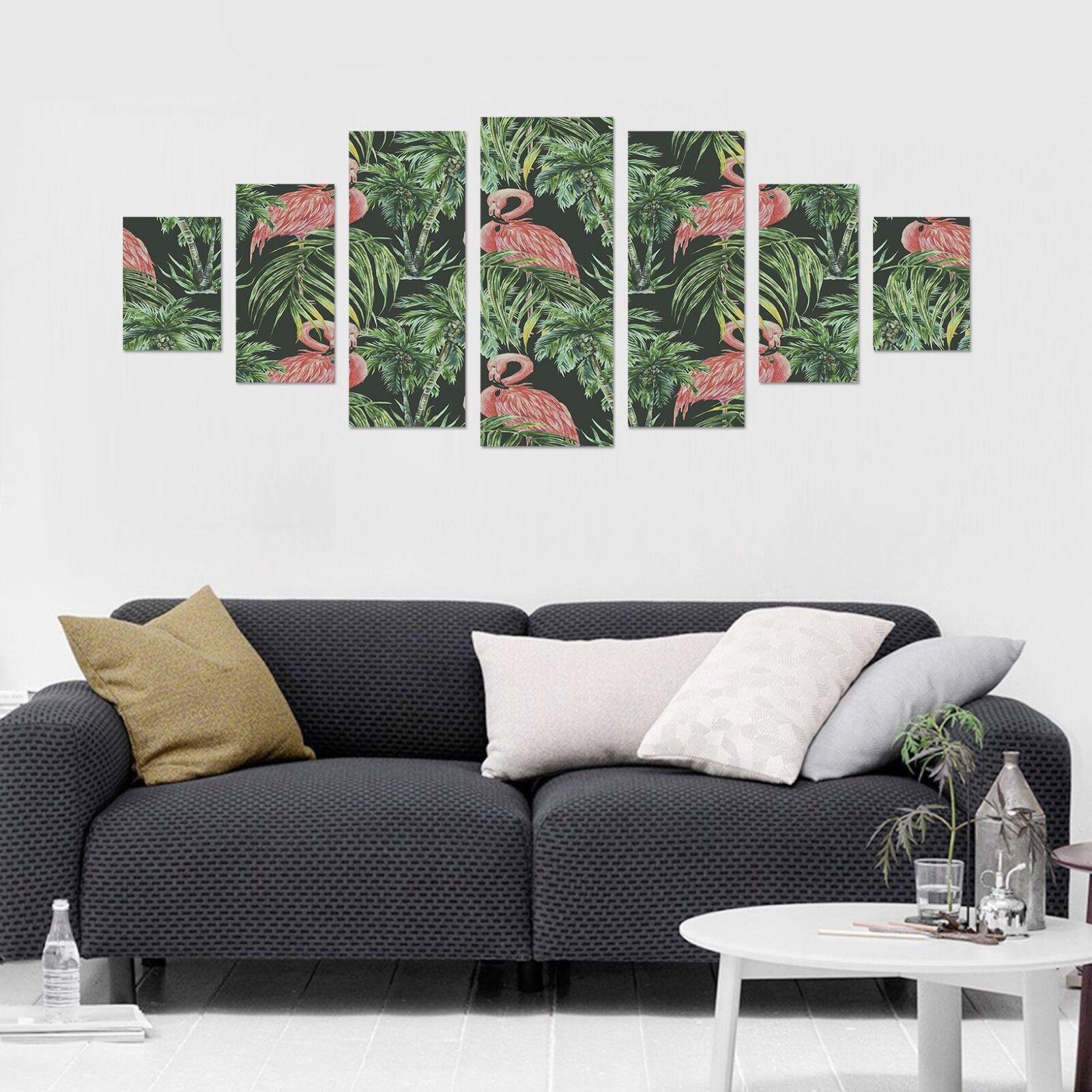 3D Leaf Flamingos 667 Unframed Drucken Wand Papier Decal Wand Deco Innen AJ Wand