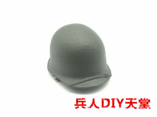 1//6 SCALE GREEN PLASTIC ARMY HELMET FOR ACTION MAN OR SIMILAR
