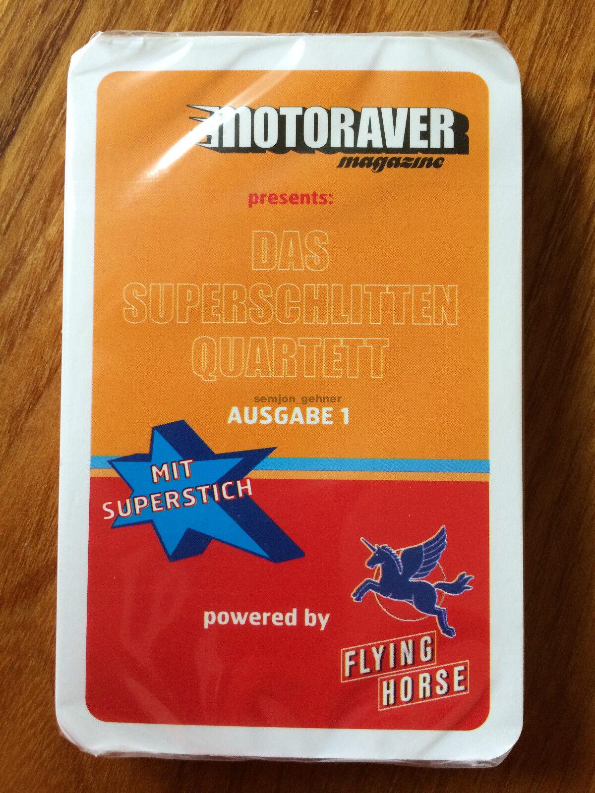 MOTORAVER magazine  Das Superschlitten-Quartett  Ausgabe 1 (mit Superstich) NEU  | Die Qualität Und Die Verbraucher Zunächst