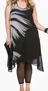 TAKING-SHAPE-ts14-plus-size-12-smoke-signal-dress-ASYMMETRICAL-LINE-CHIFFON-FIT