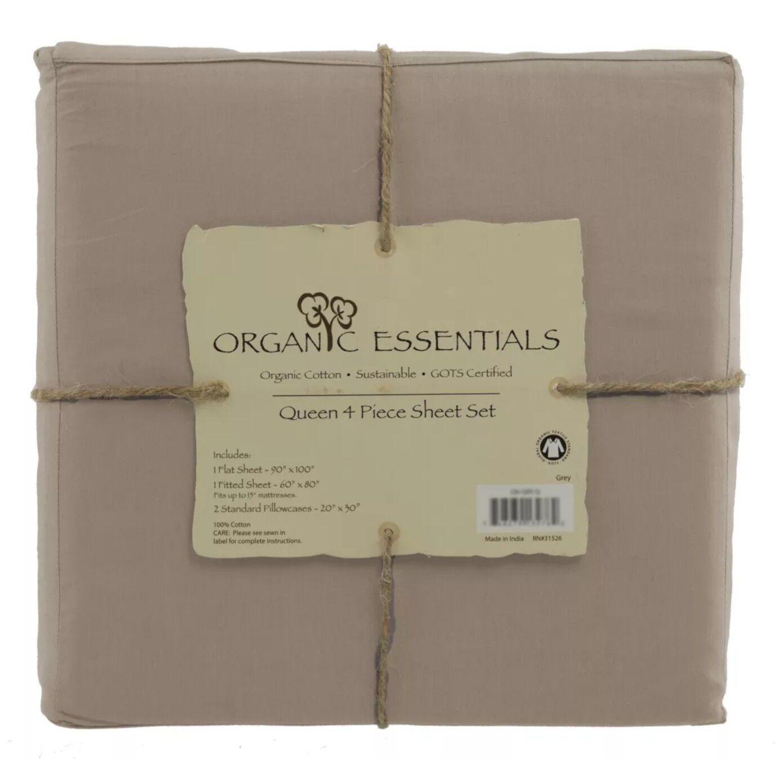 Organic Essentials Certified Organic Sheet Set 4 piece King