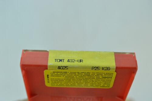 10x TCMT 433-UR 22 04 12 4025 P25 K20 SANDVIK CARBIDE INSERTS CoroTurn Turning