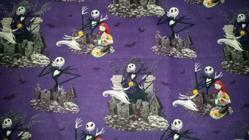 LINED VALANCE 42X15 THE NIGHTMARE BEFORE CHRISTMAS HALLOWEEN JACK SALLY ZERO