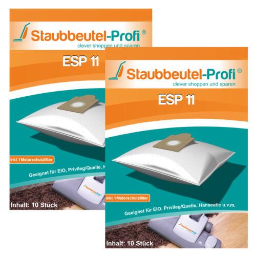 20 Staubsaugerbeutel kompatibel für EIO Villa Wave 2200W Staubbeutel Filtertüten