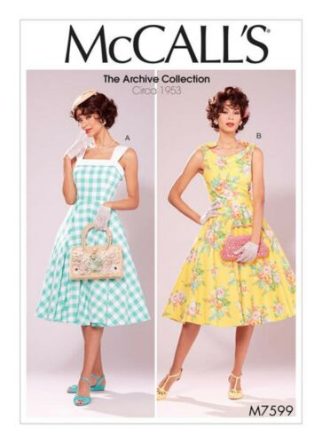 1953-Archive collektion-peticot Mccalls patrones de corte m7599-vestido-aprox