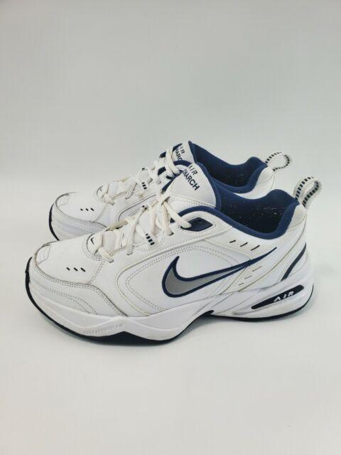 Nike Air Monarch IV 415445-102 Walking Shoes Men's Size 9.5 White Navy