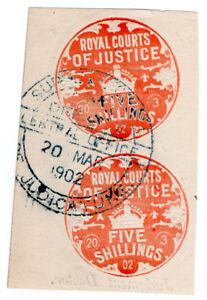 (I.B) Edward VII Revenue : Royal Courts of Justice 10/-