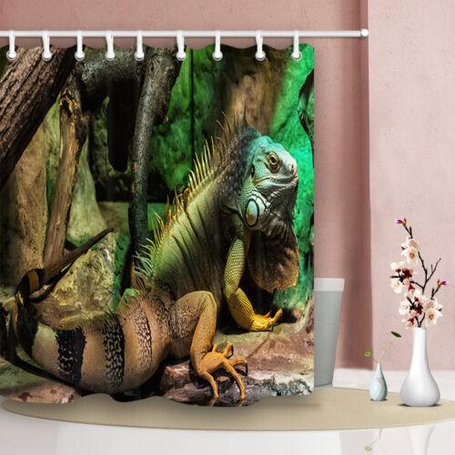 """American lguana Iguana animaux Rideau de douche pour salle de bains Tissu Polyester 71/"""""""