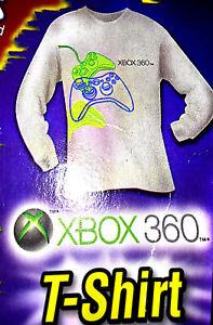 NEW adult unisex sz M Xbox 360 LS tee gray long sleeve video gamer shirt