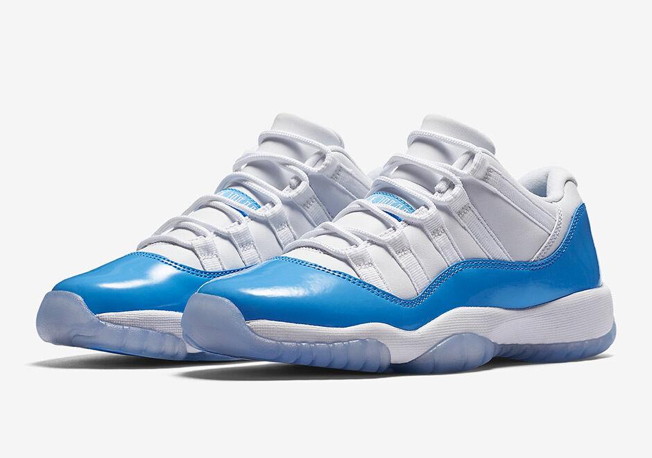 2018 Nike Air Jordan 11 XI low size 11. University Blue White UNC. 528895-106. best-selling model of the brand