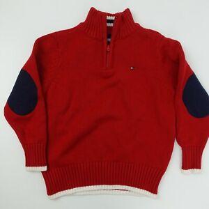 Tommy Hilfiger Kid's 1/4 Zip Red Sweater Size 4