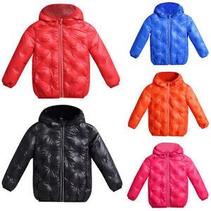 96789046f14e Kids Baby Girls Boys Winter Coat Cloak Jacket Warm Hoodie Outerwear ...