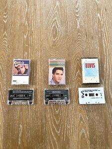 Elvis Presley Lot Of 3 Cassette Tapes 50 Hits, Gospel, Blue Christmas