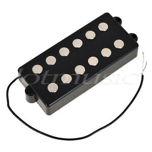 black 6 string bass guitar pickup humbucker double for music man bass coil tap 634458639927 ebay. Black Bedroom Furniture Sets. Home Design Ideas