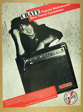 1986 Yngwie Malmstreen photo Crate G60GT Guitar Amp amplifier vintage print Ad