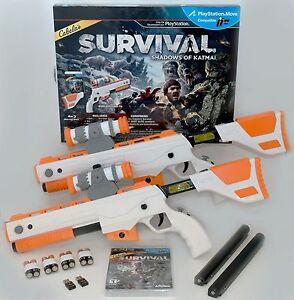 NEW PS3 Cabela's Survival Shadows of Katmai GAME + 2 GUNS Bundle top shot elite