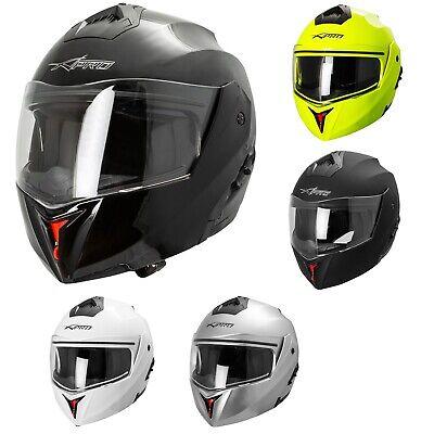 A-Pro Helm Klapphelm Innensonnenblende Motorradhelm Modular Silber L