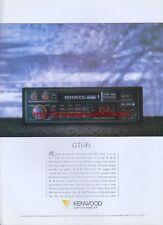 Kenwood Car Hifi Audio 1988 Magazine Advert #1945