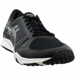 asics fuzex trail casual running stability shoes  black