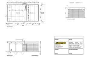 Bauzeichnung Carport Individuell Bauplan Skizze Z B Fur Bauamt Bauantrag Ebay