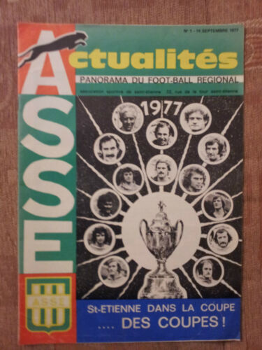 198081 EUROPEAN CUP WINNERS CUP ST. ETIENNE v MANCHESTER UNITED