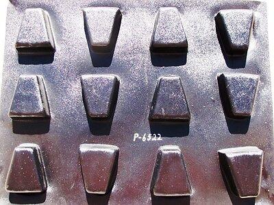 "SIX  6"" KEYSTONE CONCRETE COBBLESTONE MOLDS MAKE DIY PAVERS FOR PENNIES #P-6522"