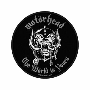 MOTORHEAD-World-Is-Yours-Woven-Sew-On-Patch-Official-Licensed-Band-Merch-Lemmy