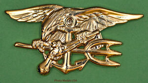 NAVY-SEAL-Badge-Trident-insignia-BUD-gold-full-size-2-3-4-inch