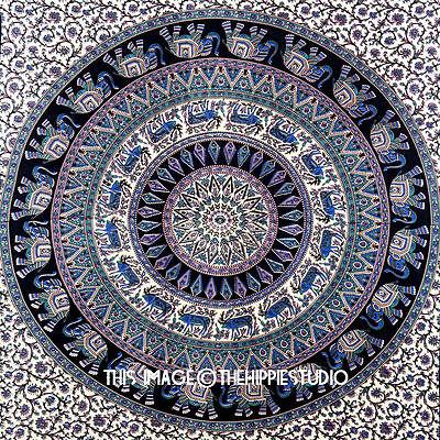 Indian Elephant Mandala Tapestry Wall Hanging Hippie Tapestries Ethnic Decor Art