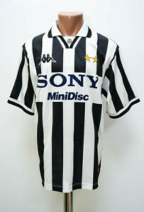 JUVENTUS-ITALY-1996-1997-HOME-FOOTBALL-SHIRT-JERSEY-KAPPA-BASIC-SIZE-L-ADULT