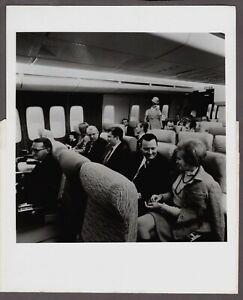 PAN AM BOEING 747 CABIN LARGE ORIGINAL VINTAGE AIRLINE PHOTO