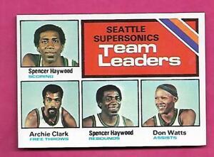 1975-76-TOPPS-132-SUPERSONICS-TEAM-LEADERS-NRMT-MT-CARD-INV-A8589