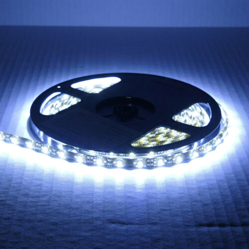 Bright 16.4ft 5050 Waterproof SMD 300 LED Flexible Strip Tape Room Lights  White