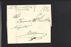 SOUTH YARMOUTH, MASSACHUSETTS 1833, STAMPLESS MANUSCRIPT COVER TO MAINE,CONTENT.