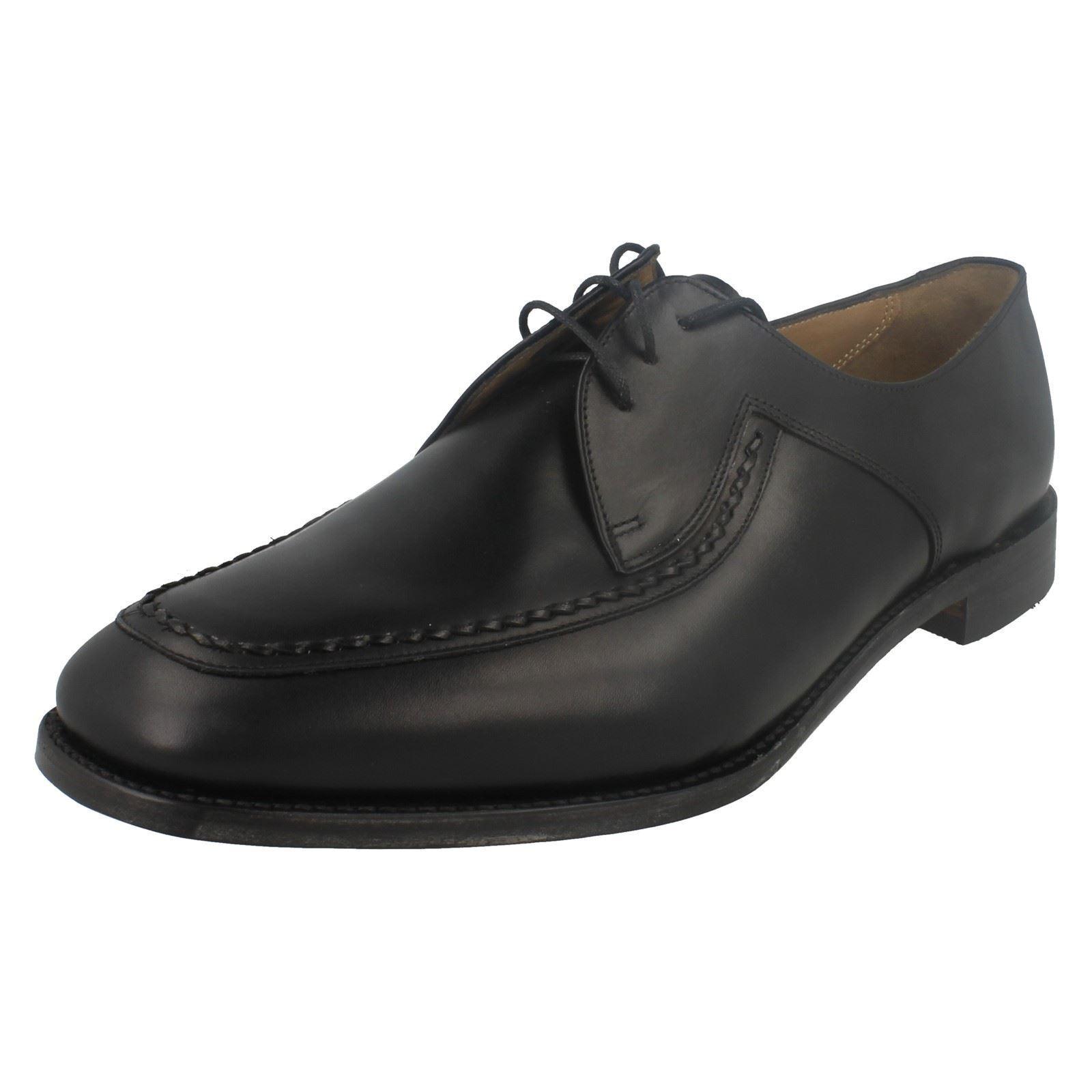 Loake Hombre Fontwell Negro Cuero de Becerro Zapatos con Cordones Ajuste G
