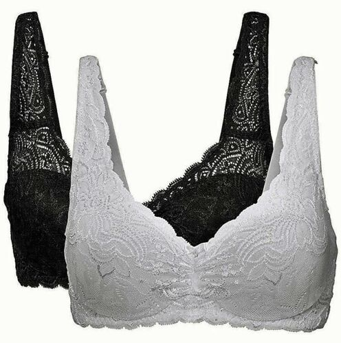 TWO PACK New Cellbes of Sweden Underwired Lightly Padded Black White Bras