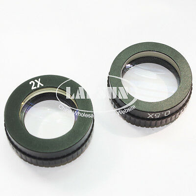 0.5X & 2X Barlow Objective Auxiliary Lens For Microscope Camera C-MOUNT 40.5mm