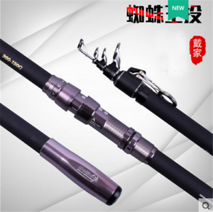 Telescopic Carbon 4  section Surf Rod Beach Bass Casting Fishing Rod CW 100-150g  happy shopping