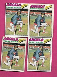 RARE-4-X-1977-OPC-173-ANGELS-BOBBY-BONDS-CARD-INV-C2002