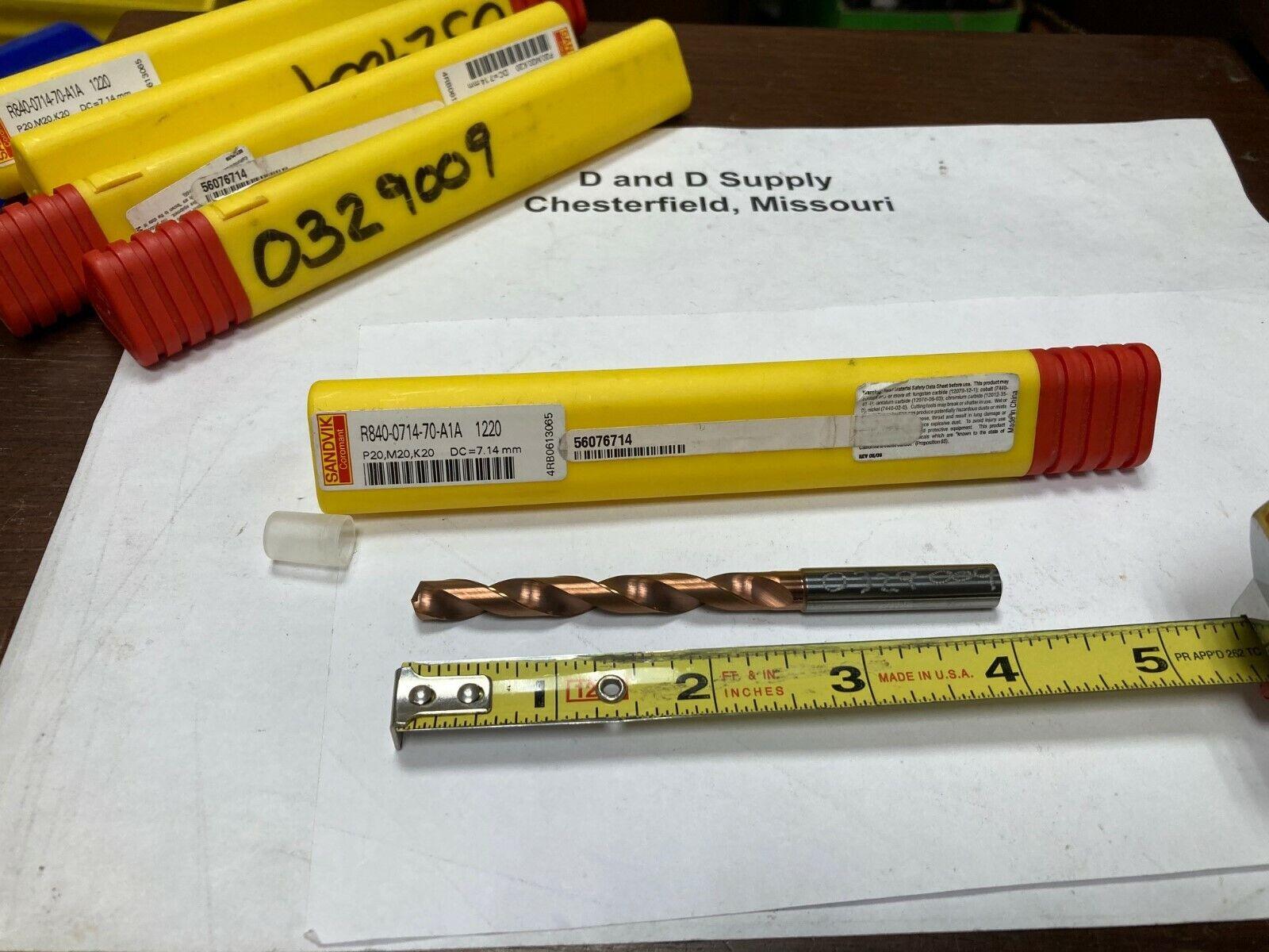 Sandvik 11mm Solid Carbide Drill Coolant Through CoroDrill R840-1100-70-A1A 1220