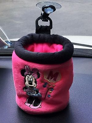 Minnie Mouse Disney Car SUV Accessory #Pink Cup Holder Utility Case Suction Cup