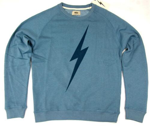 Lightning Bolt Long Sleeve Crew Neck Sweatshirt Bolt Provincial Blue Bolt Surf