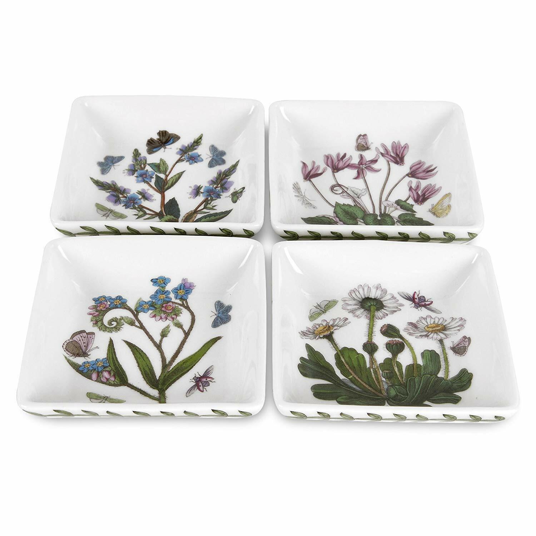 Portmeirion Botanic Garden Square Mini Dishes Set Of 4 Ebay