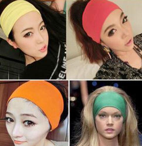Women Wide Sports Yoga Headband Stretch Hairband Elastic Hair Band Turban Best