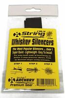 Cat Whisker Rubber Bow String Silencers Pack Black Archery Free Shipping