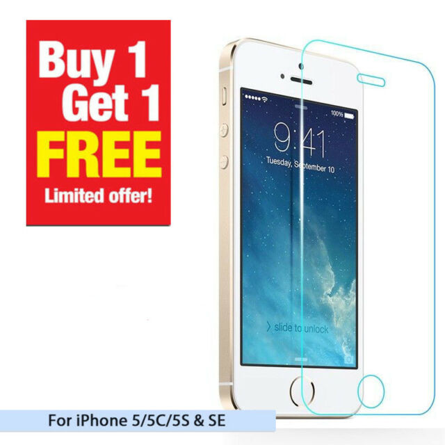 REAL TEMPERED GLASS FILM SCREEN PROTECTOR FOR APPLE IPHONE SE 5C 5S OU